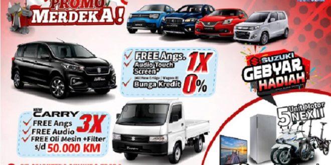 Beli Mobil Suzuki Cicilan 0 % atau Bebas Angsuran 1 Kali di Promo Merdeka